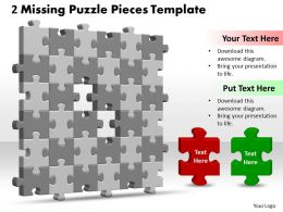 3D 6X6 Missing Puzzle Piece Template
