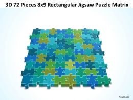 3D 72 Pieces 8x9 Rectangular Jigsaw Puzzle Matrix