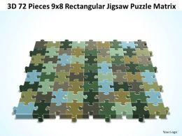 3D 72 Pieces 9x8 Rectangular Jigsaw Puzzle Matrix
