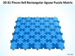 3D 81 Pieces 9x9 Rectangular Jigsaw Puzzle Matrix