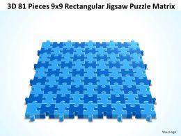 3D 81 Pieces 9x9 Rectangular Jigsaw Puzzle Matrix