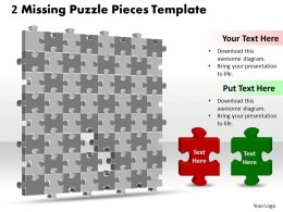 3D 8X8 Missing Puzzle Piece Template