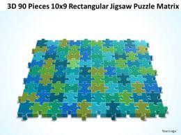 3D 90 Pieces 10x9 Rectangular Jigsaw Puzzle Matrix