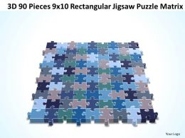 3D 90 Pieces 9x10 Rectangular Jigsaw Puzzle Matrix