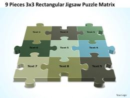 3D 9 Pieces 3x3 Rectangular Jigsaw Puzzle Matrix