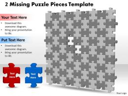 3D 9X9 Missing Puzzle Piece Template