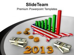 3d America Business Profit Graph 2013 Powerpoint Templates Ppt Themes And Graphics 0113