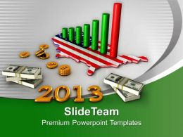 3d American Business Chart 2013 Powerpoint Templates Ppt Themes And Graphics 0113