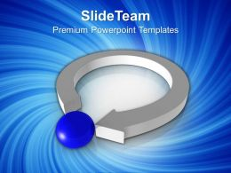 3d Arrow And Ball Leadership Concept Powerpoint Templates Ppt Themes And Graphics 0213