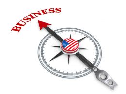3D Arrow Of Compass Pointing On Business Stock Photo