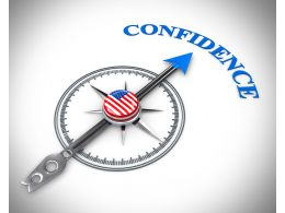 3D Arrow Of Compass Pointing On Confidence Stock Photo