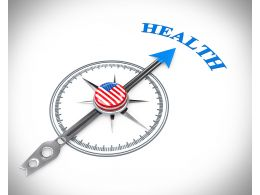 3D Arrow Of Compass Pointing On Health Stock Photo