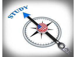 3D Arrow Of Compass Pointing On Study Stock Photo