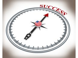 3D Arrow Of Compass Pointing On Success Stock Photo