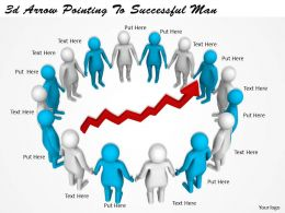 3d Arrow Pointing To Successful Man Ppt Graphics Icons Powerpoint