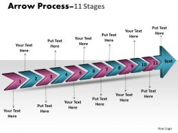 3D Arrow Process 11 Stages 1