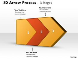 3D Arrow Process 3 Stages 3