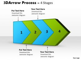 3D Arrow Process 4 Stages 1