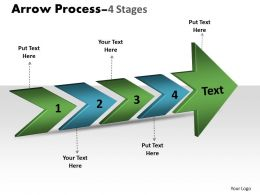 3D Arrow Process 4 Stages 2