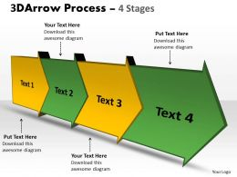 3D Arrow Process 4 Stages 3