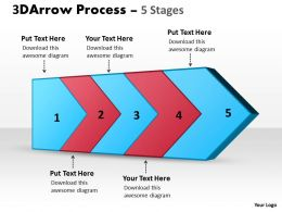 3D Arrow Process 5 Stages 1