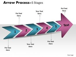 3D Arrow Process 5 Stages 2