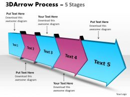 3D Arrow Process 5 Stages 3
