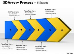 3D Arrow Process 6 Stages 1