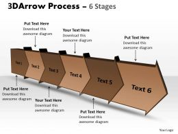 3D Arrow Process 6 Stages 3