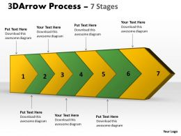 3D Arrow Process 7 Stages 1