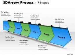 3D Arrow Process 7 Stages 3
