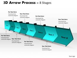 3D Arrow Process 8 Stages 1