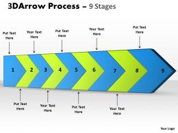 3D Arrow Process 9 Stages 1