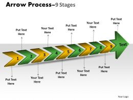 3D Arrow Process 9 Stages 2
