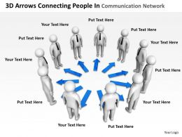 3D Arrows Connecting People In Communication Network Ppt Graphics Icons