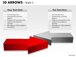 3d arrows style 1 powerpoint slides and ppt templates 0412