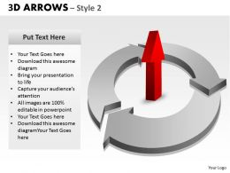 3d arrows style 2 powerpoint slides and ppt templates 0412