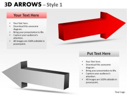 3d Arrows Style 3