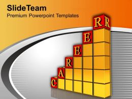 3d Bar Graph With Career Growth Business Powerpoint Templates Ppt Themes And Graphics 0113