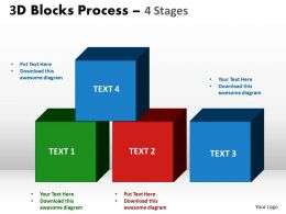 3d blocks process 4 stages powerpoint slides and ppt templates 0412