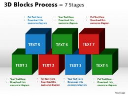3d blocks process 7 stages powerpoint slides and ppt templates 0412