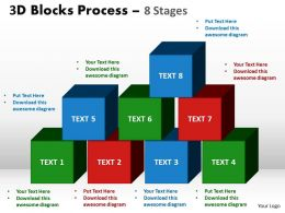 3d blocks process 8 stages powerpoint slides and ppt templates 0412