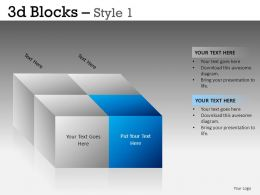 3D Blocks Style 1 Powerpoint Presentation Slides DB