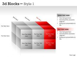 3D Blocks Style 1 PPT 10