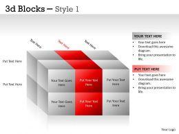 3D Blocks Style 1 PPT 11