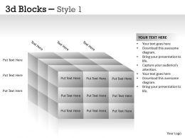 3D Blocks Style 1 PPT 13