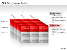 3D Blocks Style 1 PPT 14