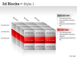 3D Blocks Style 1 PPT 15
