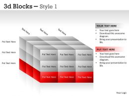 3D Blocks Style 1 PPT 16
