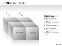 3D Blocks Style 1 PPT 1